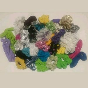 Vintage 80's Scrunchies Assortment of 34